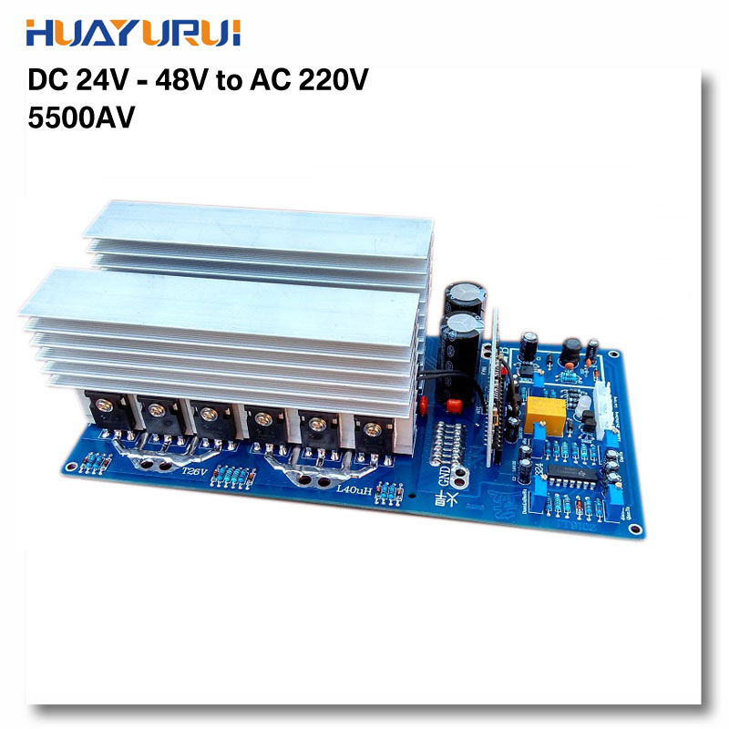 1pcs 3000W 5000W 5500W DC24V /36V / 48V to AC 220V pure sine inverter board / frequency inverter board Backup Power(China (Mainland))