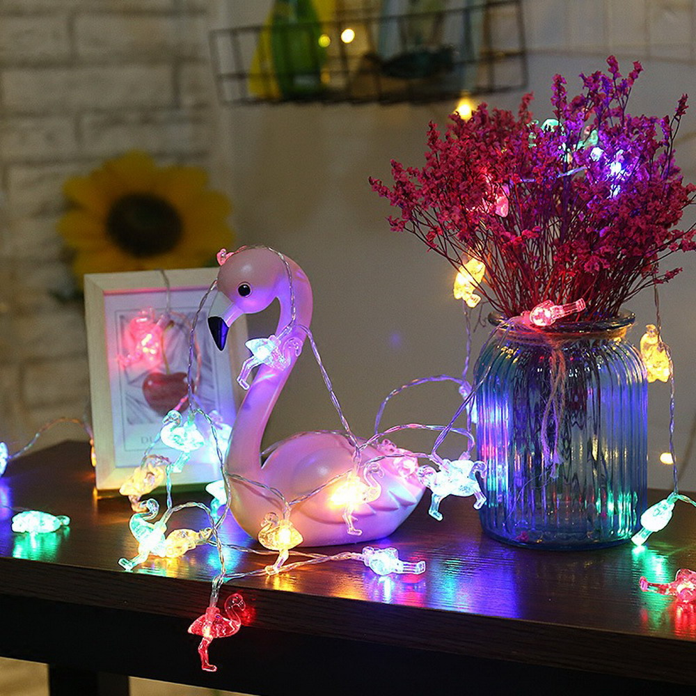 Mini Battery Powered 3m 20 Led Flamingo String Light For Baby Shower Emergency Lamp Protector Product Name Decoration 3 Meters Head Protection Class Ip43 Control Method Switch Beads Number Use Aa