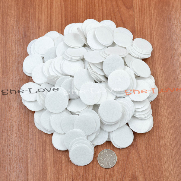 500pcs White 30mm Felt Circle Die Cut Appliques DIY Cardmaking Craft Round New(China (Mainland))