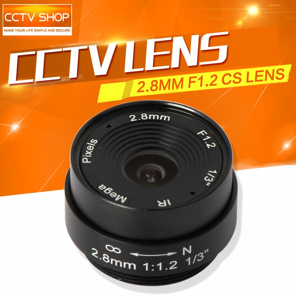 Board 2.8mm Lens 120 Degree CS Mount Monofocal Manual Iris Lens CCTV Camera Lens For CCTV IP Analog Camera(China (Mainland))