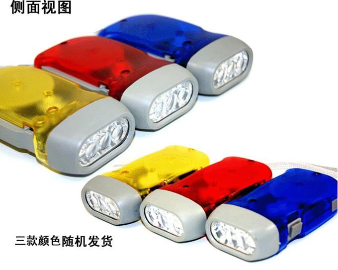2015 Hot Sell Portable 3 LED Hand Press Camping Wind Crank Flash Light Flashlight Torch #TT41(China (Mainland))