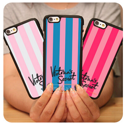 Fashion Victoria/'s Secret PINK Luxe Black Mobile Phone Cases For Iphone 6 6plus with free gifts free sheeping(China (Mainland))