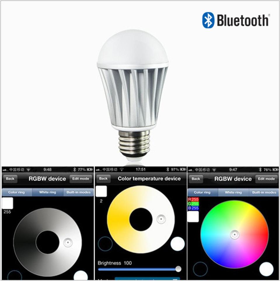 Wireless bluetooth led bulbs rgb led light lamp control for Bluetooth controlled light bulb