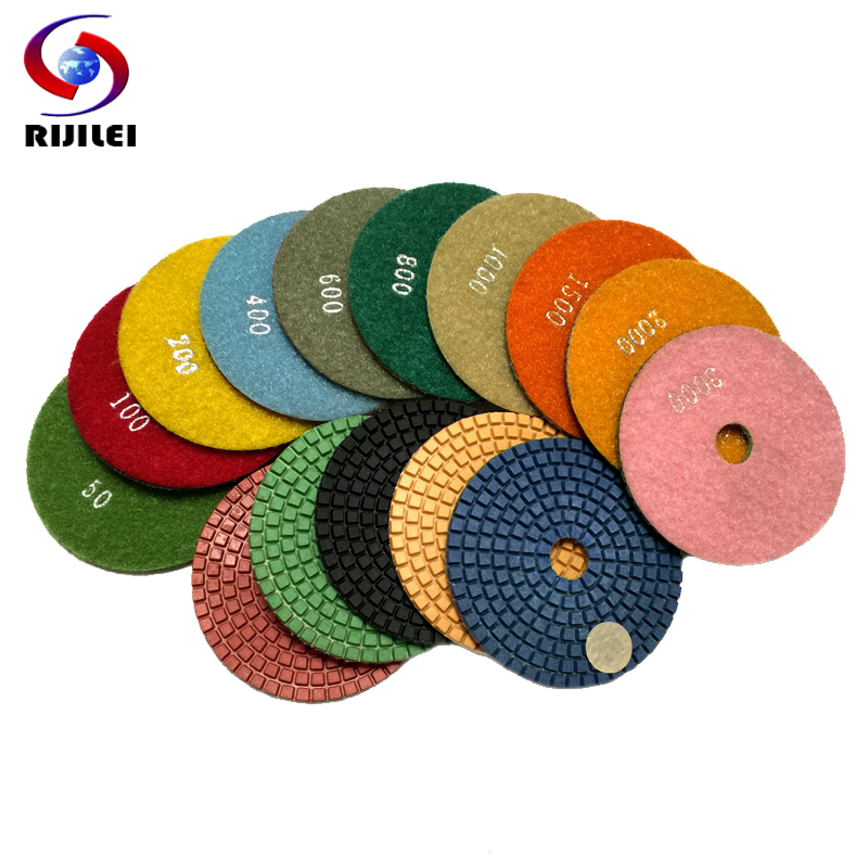 (4DS1) 10 pcs/lot 4inch/100mm Wet Polishing Pads/granite polishing pads /diamond pad, diamond tools - RIJILEI GZ Store store