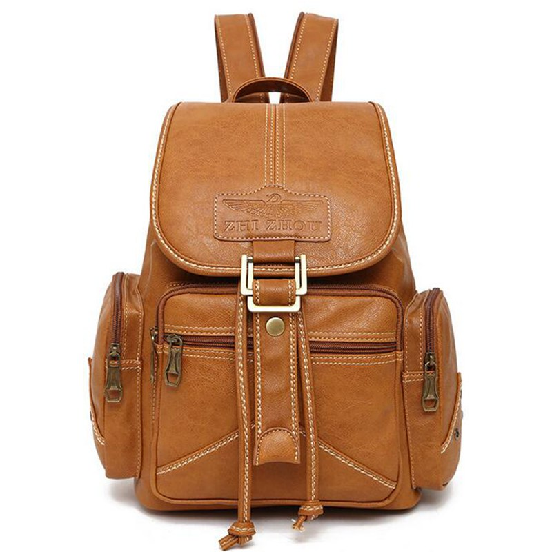 New Fashion shoulder backpack bags for women Casual travel bag brand women school bag Vintage women leather backpack W17-82