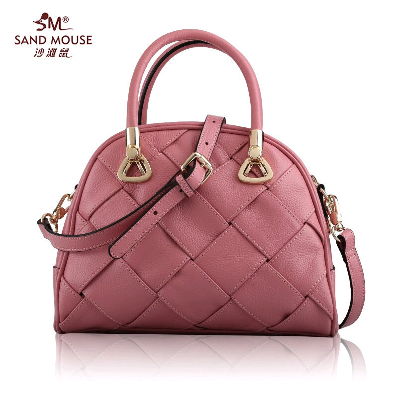 2015 New Arrival Famous Brand Women Bag Fashion High Quality Genuine Leather Women Tote Handbags Women Knitting Messenger Bags<br><br>Aliexpress