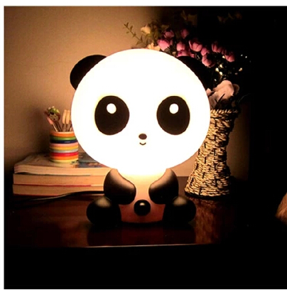 Interior Lamps Panda Desklamp Lighting Bears & Cute Valentine Lamp Children Bedroom Bedside Nightlight(China (Mainland))