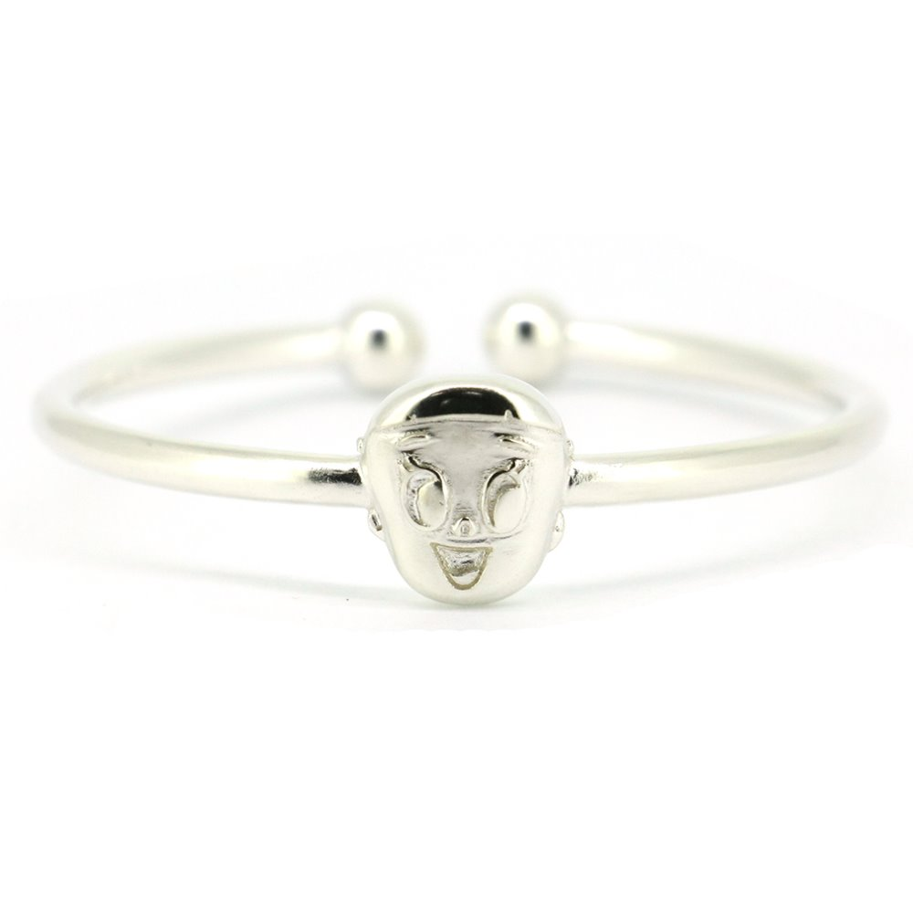 Solid 925 Sterling Silver Baby/children Bangle(China (Mainland))