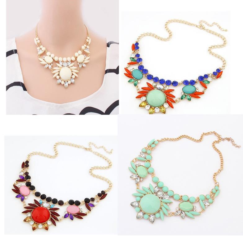 produto Free Shipping Women Necklaces Fashion Jewelry Colorful Irregular Bubble Bib Statement Necklaces & pendants meus pedidos Cai0011
