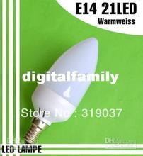 E14 21 LED Candle LIGHT Spotlight Lamp Bulb 230VWarm White(China (Mainland))