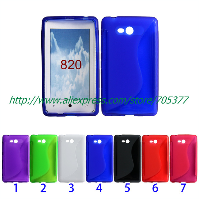Soft Gel Tpu Case Back Cover For Nokia Lumia 820 case lumia 820 cover(China (Mainland))