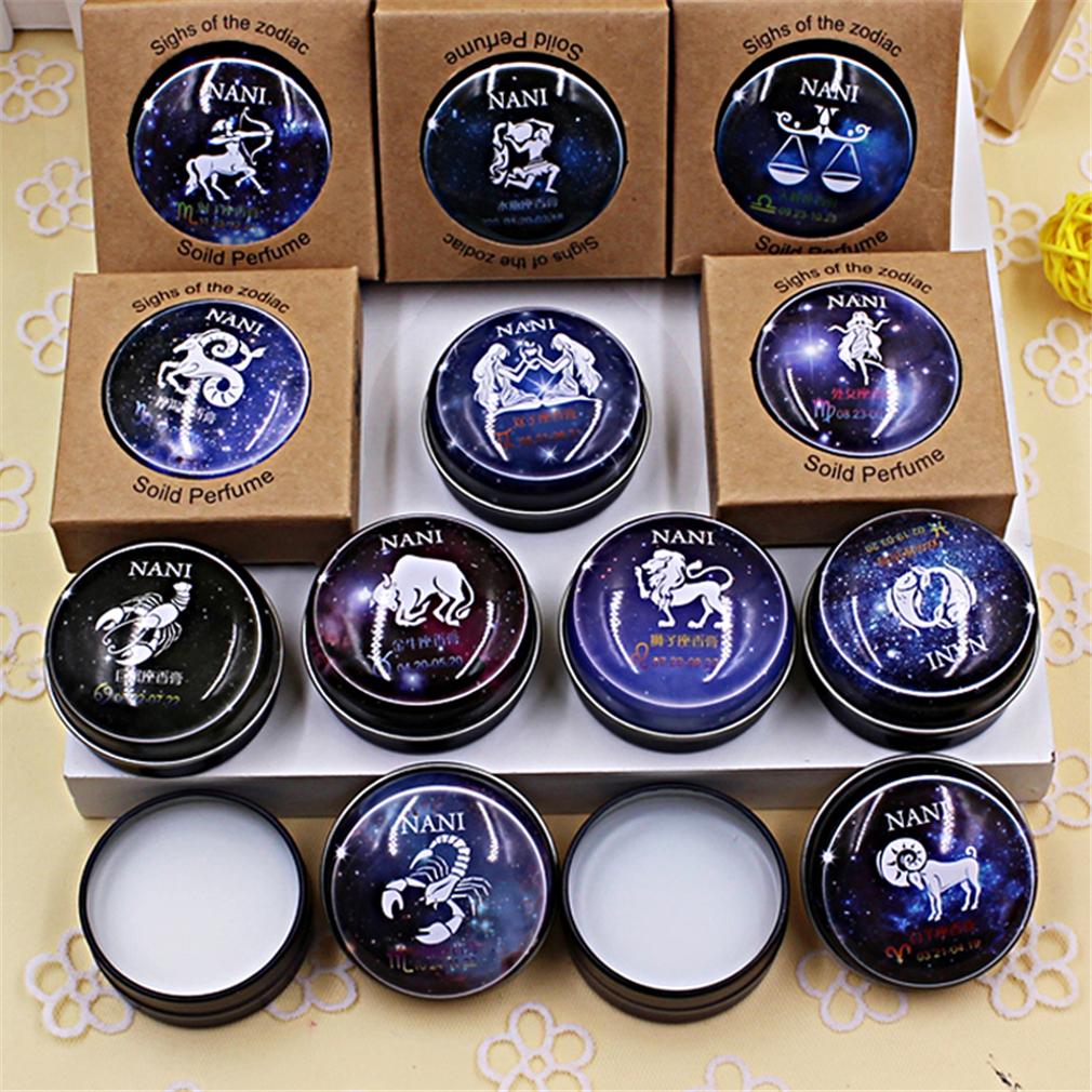 1 Pcs New High Quality 12 Constellation Zodiac Perfumes Women Men Magic Solid Perfume Deodorant Solid Fragrance(China (Mainland))