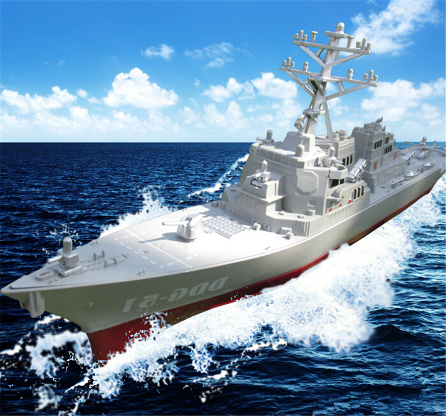 Children's toys ship aircraft carrier battleship warship model military model missile destroyers finished with bracket(China (Mainland))