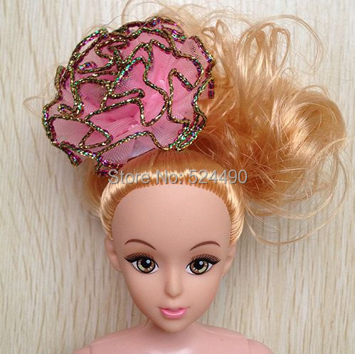 5Pcs/lot Combine Fashion Style Headwear Headdress Flower Doll Equipment For Barbie Kurhn Doll Mini ddgir Birthday Present Toy 2015
