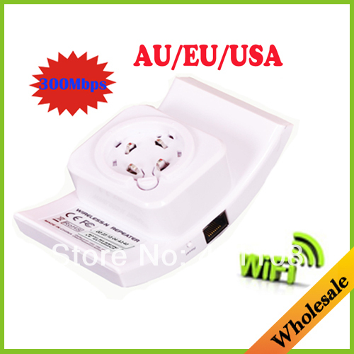Drop shipping Wireless-N Wifi Repeater 802.11N/B/G Network Router Range Expander 300M 2dBi Antennas Signal Boosters tablet/PC(China (Mainland))