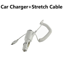 Car Charger For Samsung Galaxy S5 i9600 Galaxy Note 3 3 III N9000 N9005 Shiny Car Vehicle USB 3.0 With Stretch Cable(Hong Kong)