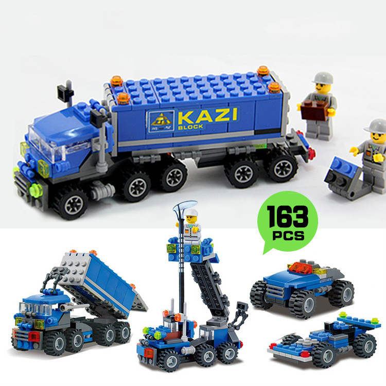 New Arrival City Big Truck Building Blocks Sets Model 163pcs/lot Deformation Car Bricks Toys Children Gift Xmas birthday Gife(China (Mainland))