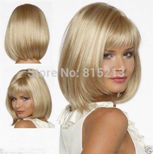dd009290 exquisite short blonde MIXED wigs for women+ WIG cap<br><br>Aliexpress