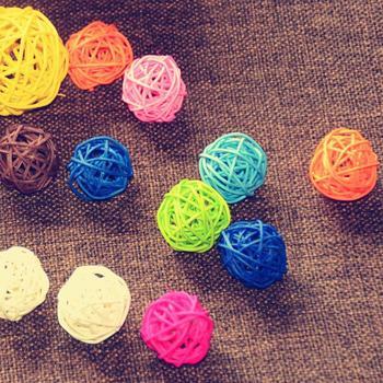 5 шт. / Lot 3 см предметы для событий и вечеринок ротанг мяч свадьба украшение орнамент ремесло мяч сушеные искусственный цветы декорирования