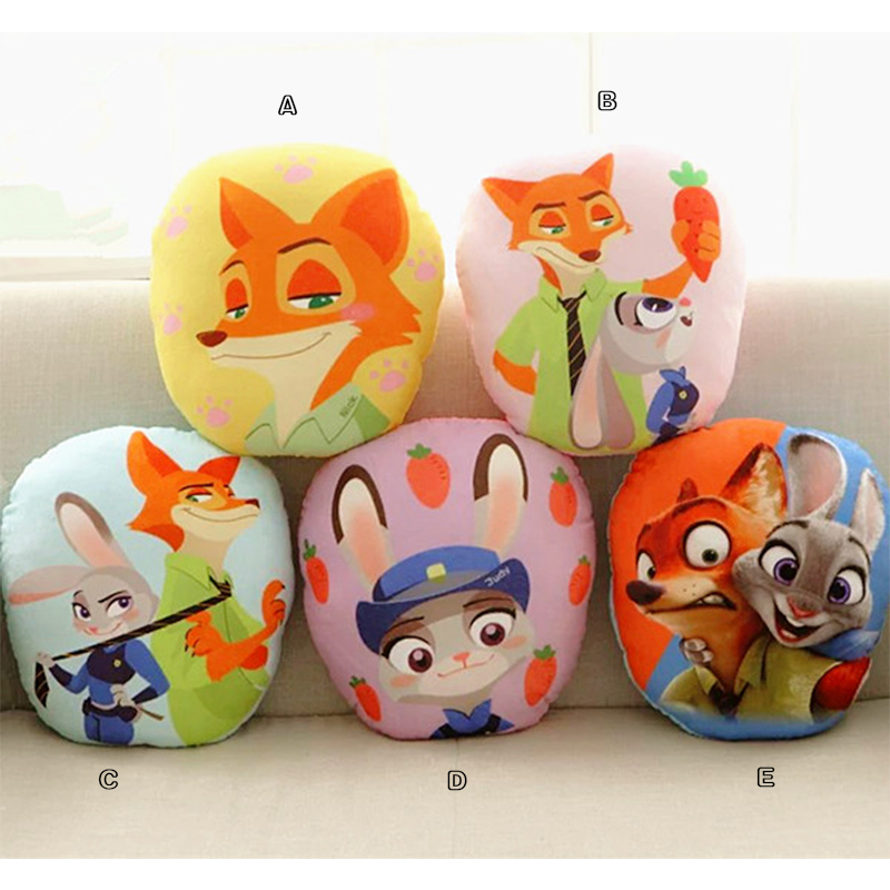 32x30CM  Zootopia Police officer Judy Hopps Fox Nick cotton Animal Pillow plush kids