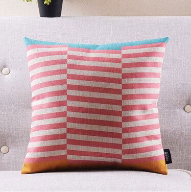 Free Shipping cute geometric pillow almofadas case seat chair car bed boho style girls cushion cover