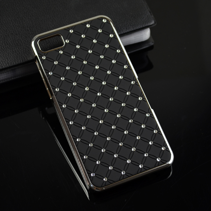 Bling Crystal Diamond Star back cover cell Phone Case for Blackberry Z10 BB10(China (Mainland))