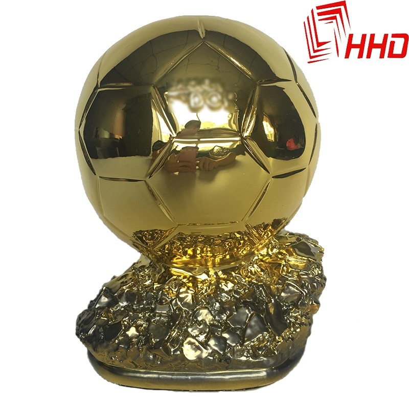 "2014 World Cup France Football Cups Trophy Model 9.4"" 1.8KG Resin Best Player Awards Golden ball Soccer Trophy Souvenirs(China (Mainland))"