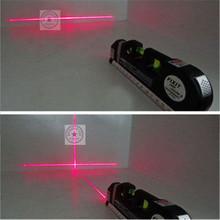 High Quality 180 Degree Laser Point  Multipurpose Level Laser Horizon Vertical Measure Tool Tape Aligner Bubbles Ruler Wholesale