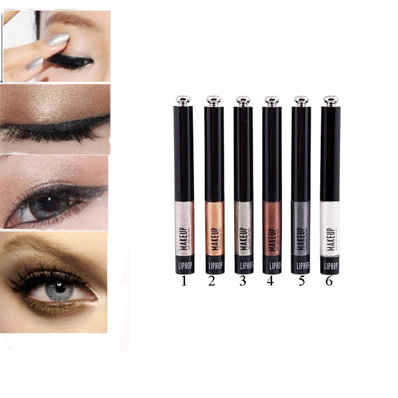 Shimmer Glitter Liquid Eyeshadow Eye Shadow Paint Line 6 Colors Optional(China (Mainland))
