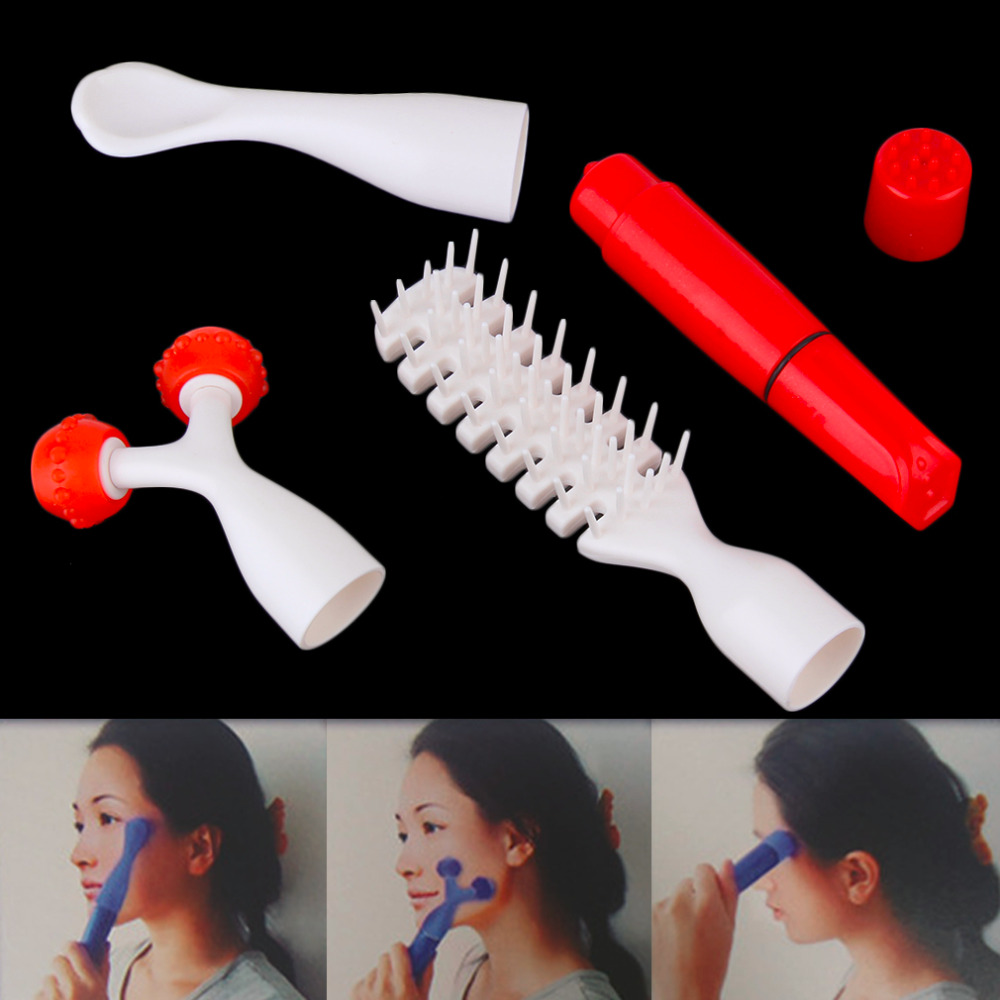 Multifunction Face Facial Scalp Roller Multi-point Massage Vibration Body Massager Acupuncture Point Set <br><br>Aliexpress
