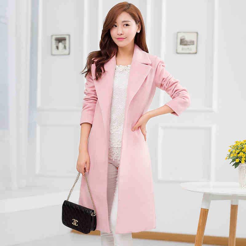Womens Pink Wool Coat