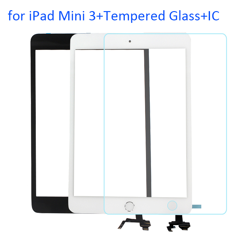 ALNGDUO for iPad Mini 3 A1599 A1600 A1601 Touch Screen Digitizer Panel Front Touchscreen Replacement with Tempered Glass + IC(China (Mainland))