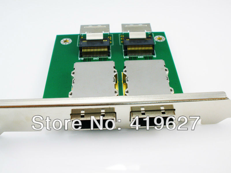 2 ports Internal SFF-8087 36P to External SFF 8088 PCI mini SAS 26P Adapter SAS RAID Pin board(China (Mainland))
