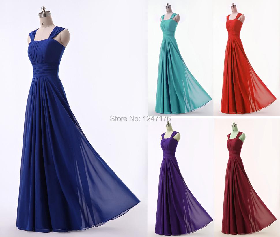 Super cheap new chiffon tank scoop pleat prom dresses for Super cheap wedding dresses