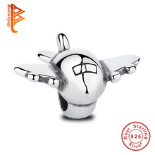 Buy Real 925 Sterling Silver Airplane Aircraft Floating Charms Fit Original Pandora Bracelet DIY Plane Fighter Wholesale Jewelry for $5.87 in AliExpress store