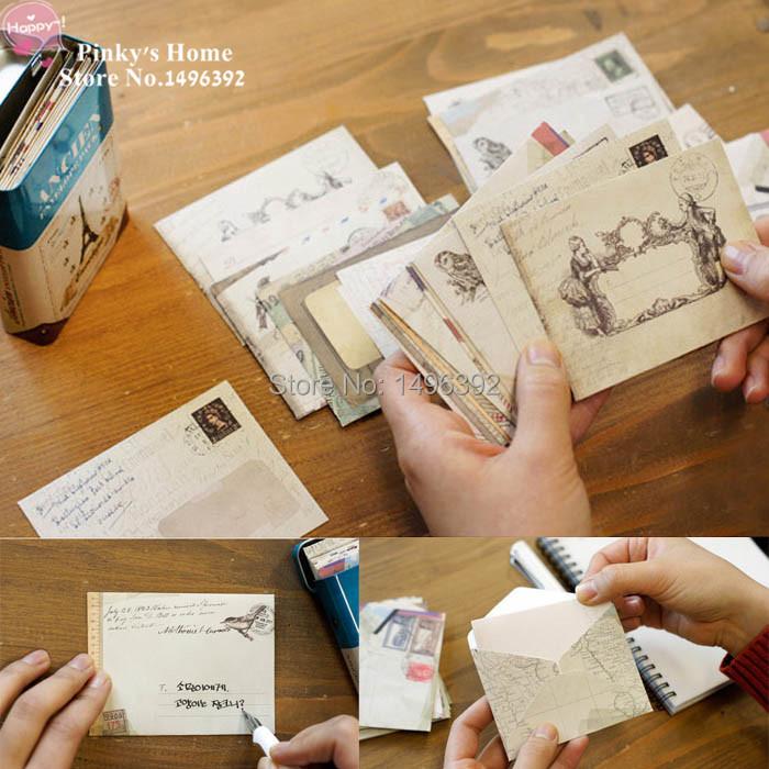 12pcs/set New Vintage Paper Envelopes Style Ancient Gift Letter Pad Pack Office School Supply Mini Envelop Paper Card Envelopes(China (Mainland))