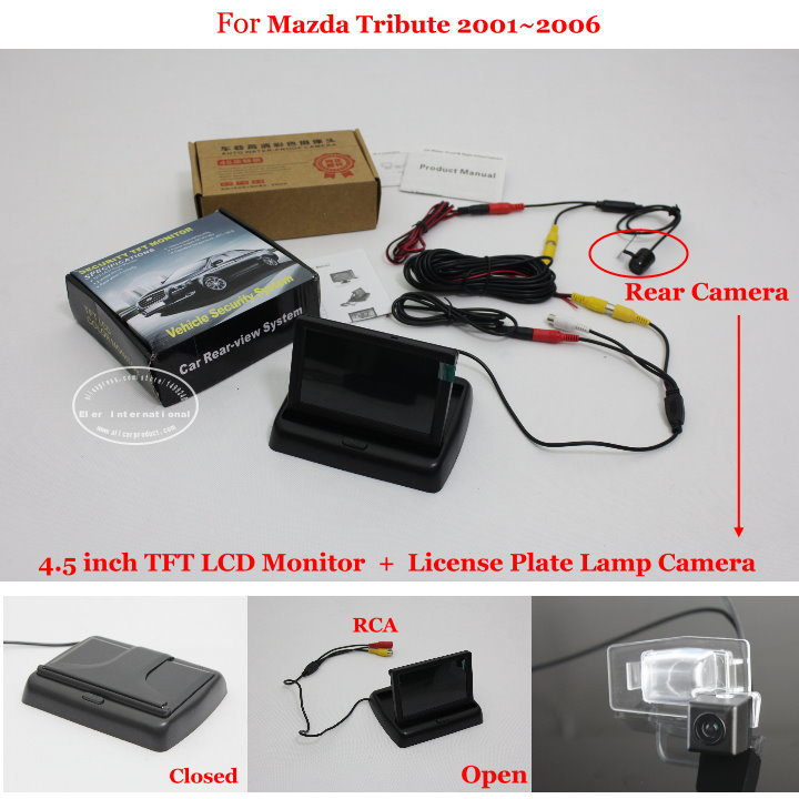 "For Mazda Tribute 2001~2006 - Reverse Rear Camera + 4.3"" TFT LCD Monitor = 2 in 1 Parking System(China (Mainland))"