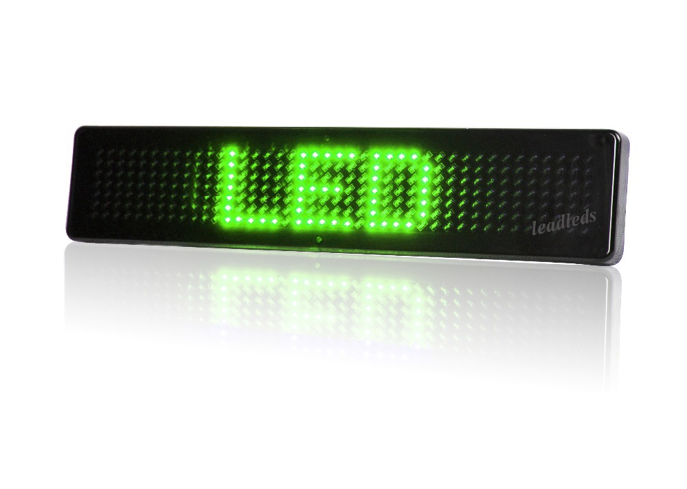 New 12V LED Car display Auto Programmable Message Sign Scrolling Moving Display Board with remote(China (Mainland))