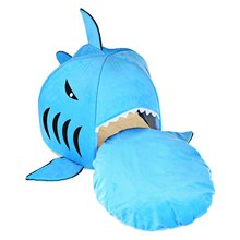 Cat Bed Soft Dog Bed Bule Grey Cartoon Shark Pet Bed For Pets Washable Dog House Pet Sleeping Bed With Removable Cushion(China (Mainland))