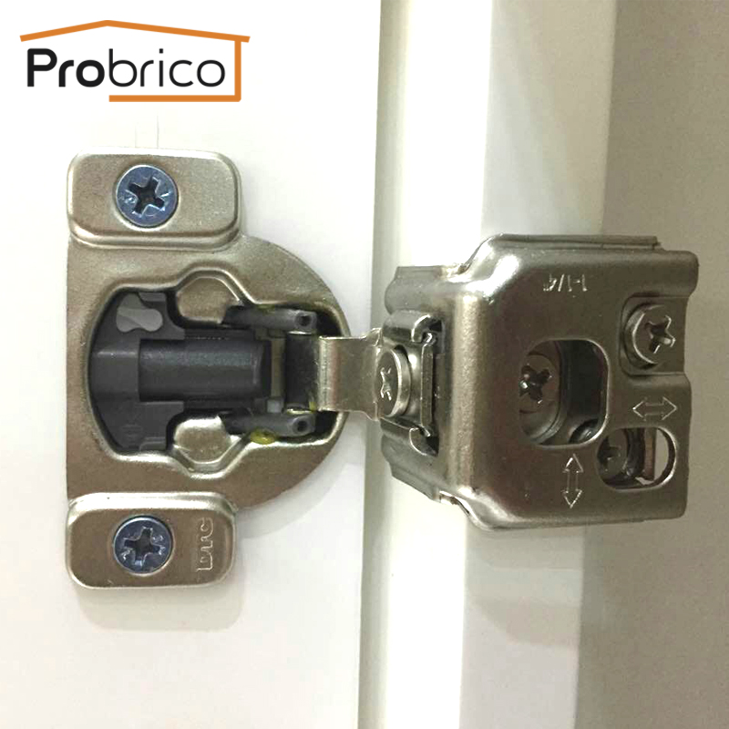 Probrico Wholesale 100 PCS Soft Close Kitchen Cabinet Hinge CHM36H1-1-4 Concealed Face Frame Insert Overlay Cupboard Door Hinge(China (Mainland))