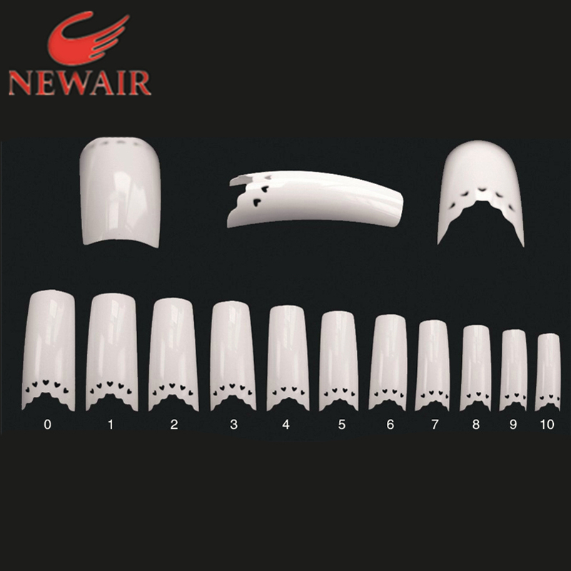 Sex Products Lace Nail Art Tips DIY Beauty Heart Lace Hollow French Nails White artificial nail art tips more sizes(China (Mainland))