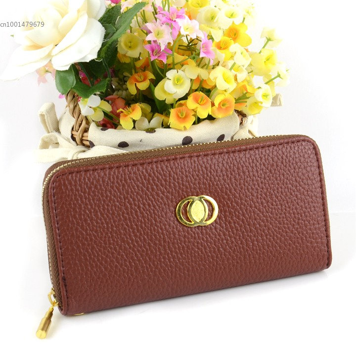 Designer Brand Zipper Women Femal Leather Wallets Ladies Coin Purse 12 Colors #7(China (Mainland))