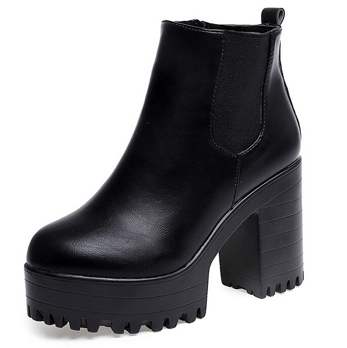 image comfortable black leather boots for