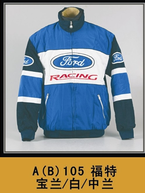 free shipping Winter work wear clothes automobile race clothing motorcycle FORD blue wadded jacket refires long-sleeve outerwear<br><br>Aliexpress