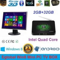 PIPO X7S Windows 8.1&Android 4.4 Dual OS Mini PC 2GB/32GB Intel Quad Core Atom Z3736F Max 2.16GHz HTPC 1080P TV Player XBMC Kodi