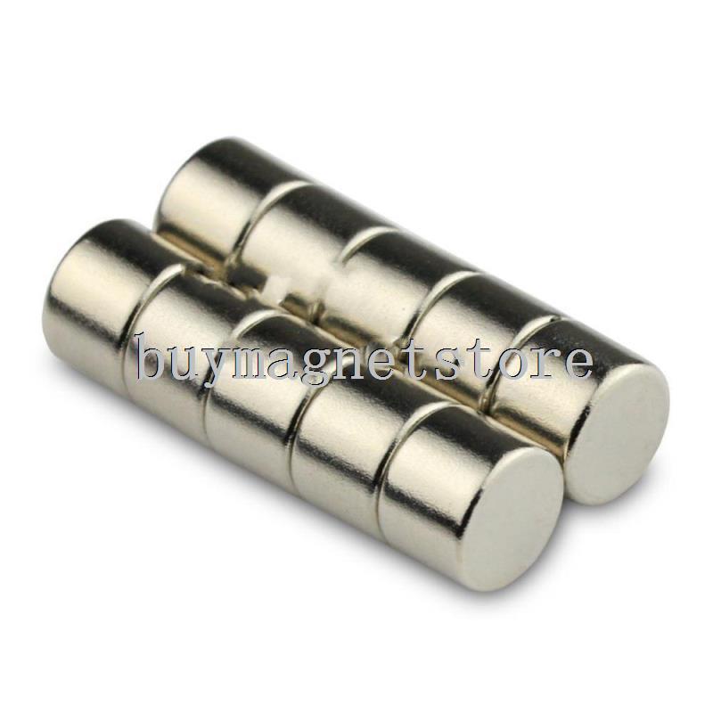 50 х маленькие круглые магниты цилиндра 8 х 6 мм N50 в ранг диск редкоземельные магниты Neodymiumfree доставка