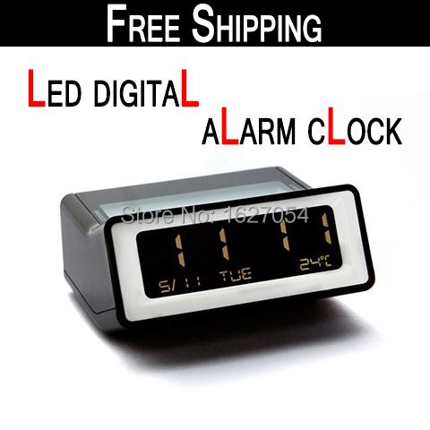 Free shipping!Fashion night light LED Alarm Clock digital alarm clock snooze alarm clock for home decor/room bedside/office desk
