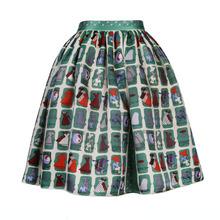 FREE SHIPPING Jungle Me 2016 Summer New Arrival Vintage All Match 100% Silk High Waist Geometric Printing Mini Tutu Skirt Women