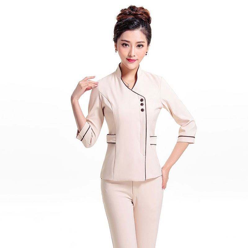 Free shipping summer short sleeves hospital uniforms solid for Spa uniform alibaba