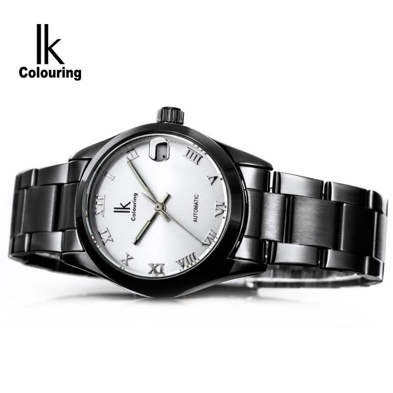 Ik Brand Mechanical Watch Women Hand Wind Stainless Steel